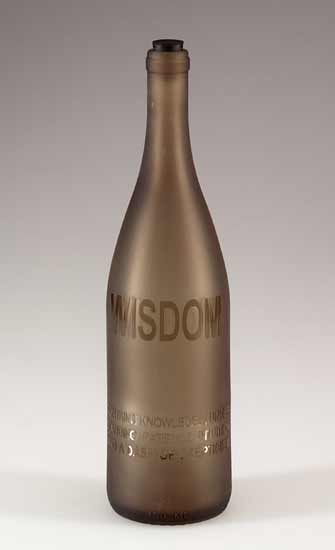 Poet's Bottle: Wisdom - Art Glass Bottle - by Jeff Crandall