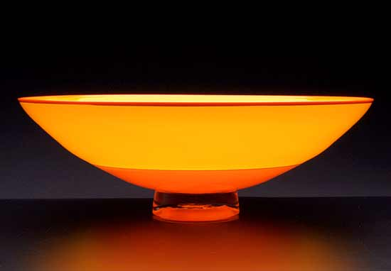 Orange & Yellow Incalmo Bowl - Art Glass Bowl - by Nicholas Kekic