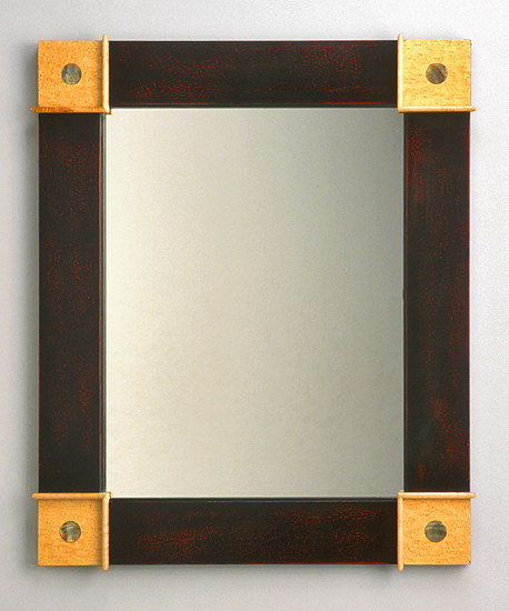 Pearl Dot Mirror - Wood Mirror - by Peter F. Dellert