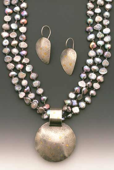 Tahiti - Earrings & Pearl Necklace - by Diana Lovett