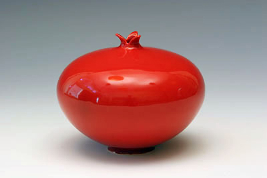 Pomegranate: Red - Ceramic Vessel - by Whitney Smith