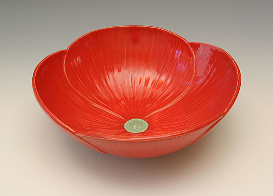 Poppy Bowl - Ceramic Bowl - by Whitney Smith