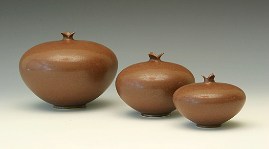 Pomegranate: Chocolate - Ceramic Vessel - by Whitney Smith