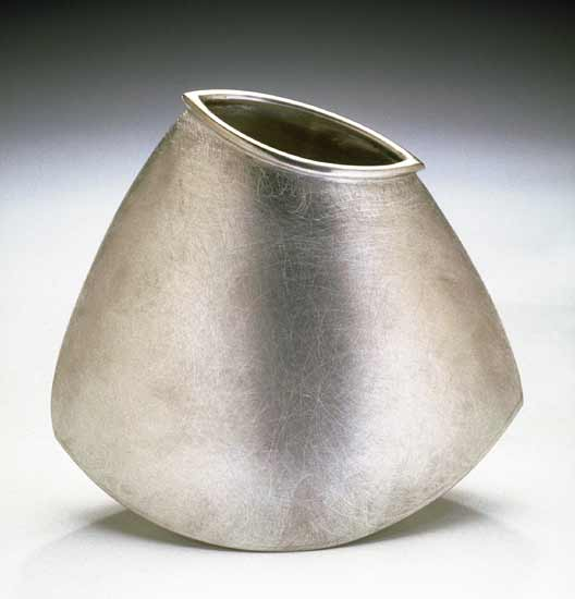 Triangle Rocking Vase - Pewter Vase - by Lisa Slovis