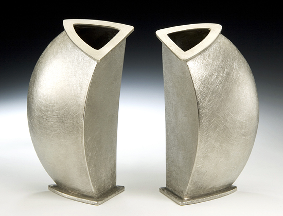Slice Vase - Pewter Vase - by Lisa Slovis