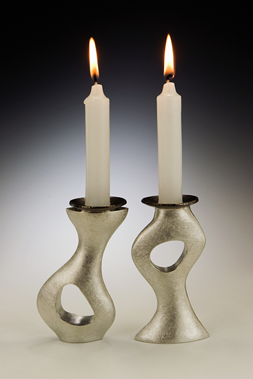 A Piece of Me Candleholders - Pewter Candleholders - by Lisa Slovis