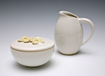 Ceramic Creamer and Sugar by Whitney Smith
