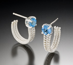 Gold, Silver, & Stone Earrings by Marie Scarpa