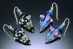Glass Bead Earrings by Bernadette Mahfood