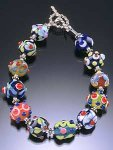 Glass Bead Bracelet by Bernadette Mahfood