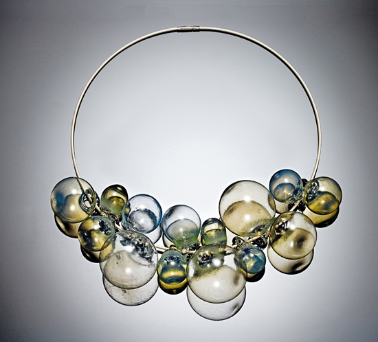 Sea Gold - Art Glass Necklace - by Melissa Schmidt