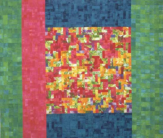 Thy Will be Done: a Green Quilt - Art Quilt - by Meiny Vermaas-van der Heide