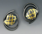 Silver & Gold Earrings by Judith Neugebauer