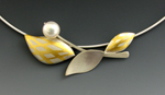 Silver, Gold & Pearl Necklace by Judith Neugebauer