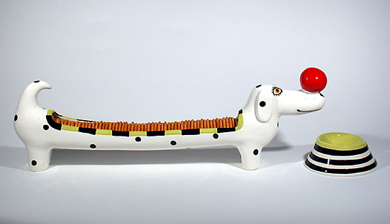 Cracker Dog - Ceramic Tray & Bowl - by Alison Palmer