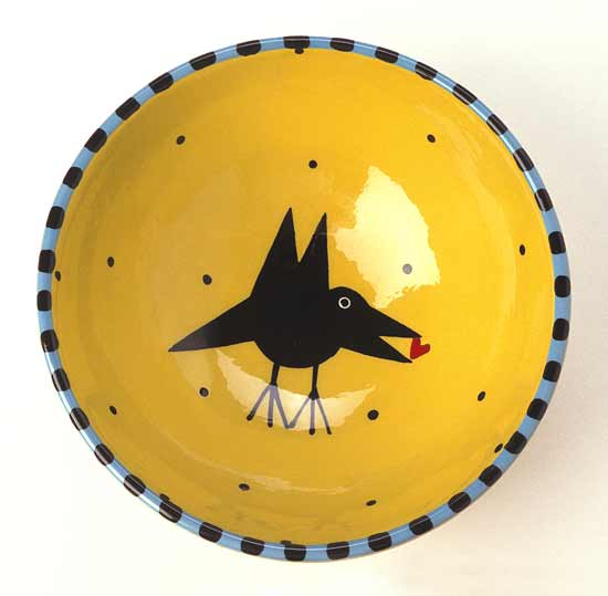 Bird Bowl - Ceramic Bowl - by Alison Palmer