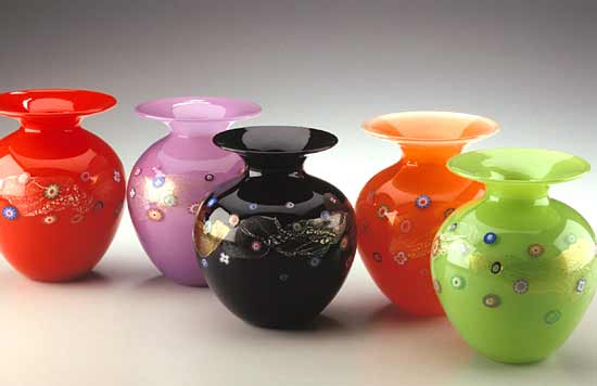 Blossom Vase - Art Glass Vase - by Ingrid Hanson and Ken Hanson