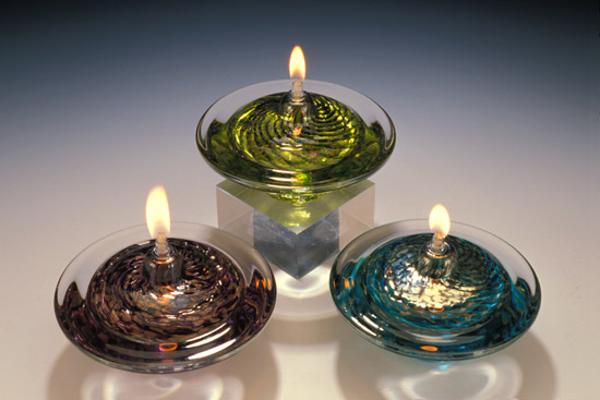 Saturn Oil Lamp - Art Glass Oil Lamp - by Danielle Blade and Stephen Gartner