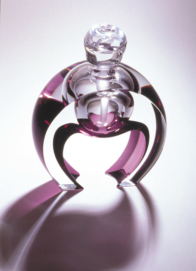Horseshoe Perfume - Art Glass Perfume Bottle - by Kevin Kutch and Mary Ellen Buxton