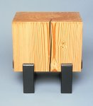 Wood Side Table by Brad Reed Nelson