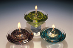 Art Glass Oil Lamp by Danielle Blade