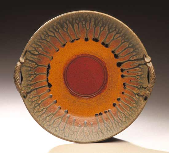 Platter With Two Handles - Ceramic Platter - by Mike Walsh
