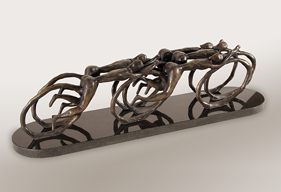 Peleton - Bronze Sculpture - by Thomas (Bud) Skupniewitz
