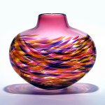 Art Glass Vase by Michael Trimpol