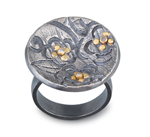 Silver, Gold & Stone Ring by Jamie Cassavoy