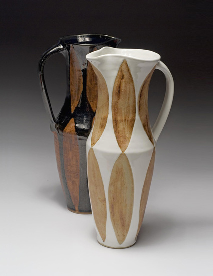 Black & White Pitchers - Ceramic Pitcher - by Emily Pearlman