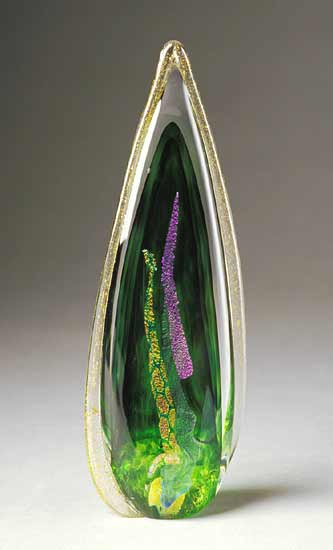 Flame Sculpture (Small) - Art Glass Sculpture - by Mike Wallace