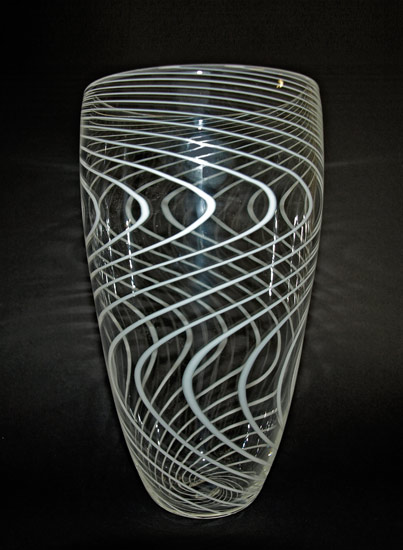 Rain - Art Glass Vase - by Mike Wallace