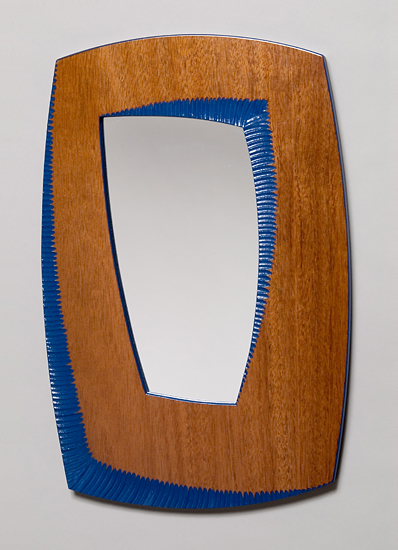 Wren's Mirror - Wood Mirror - by John Kingsley