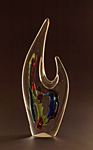 Art Glass Sculpture by Mike Wallace