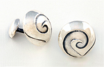 Silver Cuff Links by Jodi Brownstein