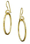 Gold & Stone Earrings by Jodi Brownstein