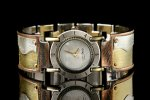 Silver & Brass Men's Watch by Eduardo Milieris