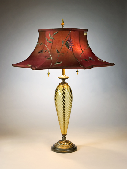 Florence - Mixed-Media Table Lamp - by Caryn Kinzig and Susan Kinzig