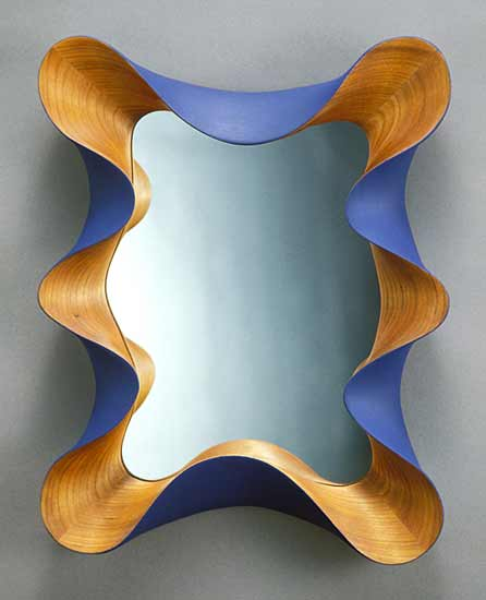 Taffy Mirror - Wood Mirror - by David Hurwitz