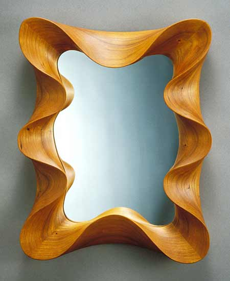 Cherry Taffy Mirror - Wood Mirror - by David Hurwitz
