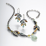 Silver, Stone & Polymer Necklace by Susan Kinzig
