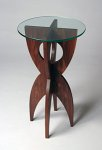 Wood & Glass Side Table by David Hurwitz