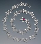 Silver & Garnet Necklace by Ellen Vontillius