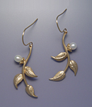 Gold Earrings by Ellen Vontillius