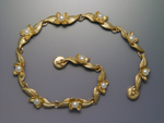 Gold & Pearl Bracelet by Ellen Vontillius