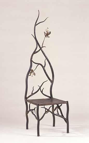 Autumn's Throne - Steel & Copper Chair - by Rachel Miller