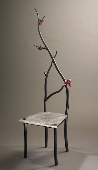 Dogwood Chair - Steel & Copper Chair - by Rachel Miller
