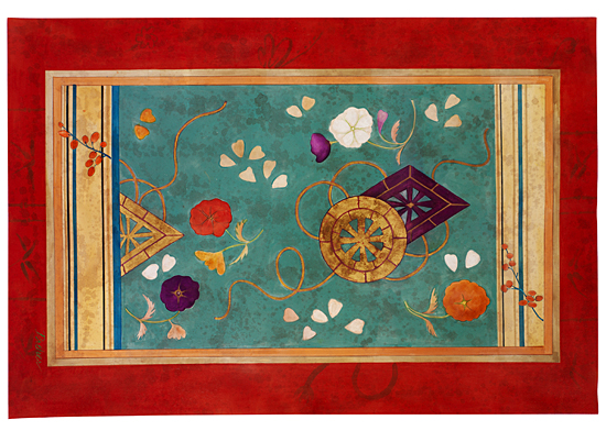 Radiant Garden - Canvas Floorcloth - by Patricia Dreher