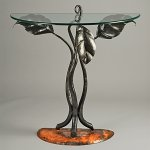 Steel & Glass Table by Rachel Miller