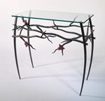Steel Hall Table by Rachel Miller